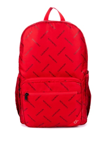 Calvin Klein red Performance Recyced Nylon 45Cm Zip Backpack 1D946AC2F804BCGS_1