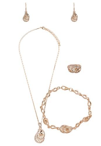閃鑽鏤空造型首飾組合, 飾品配件,esprit門市 項鍊
