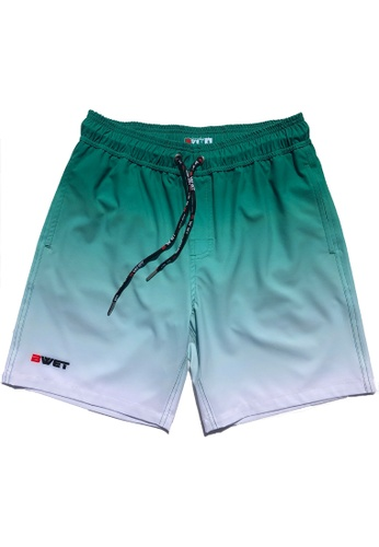 """BWET Swimwear green Eco-Friendly Quick dry UV protection Perfect fit Green Beach Shorts """"Sunrise"""" Side and Back pockets 749E0US67BAA3DGS_1"""