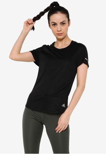 ADIDAS black run it short sleeve tee women F68AEAAD638AD4GS_1