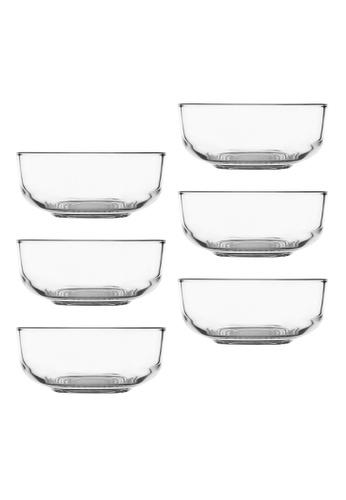 "Union Glass n/a Thailand Premium Clear Glass Bowl 515ml - 5.5oz - 5.5"" Set of 6 FB9DDHL68CD0DAGS_1"