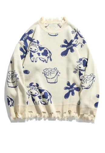 Twenty Eight Shoes Retro Cartoon Cow Knit Sweater HH0546 20338AA736B850GS_1