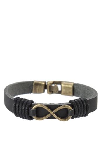 無限PU 手環zalora 評價, 飾品配件, 手環