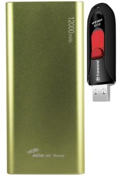MSM.HK DUCATI iPower 12000mAh Power Bank With FREE 8GB USB 3.0 Flash Drive
