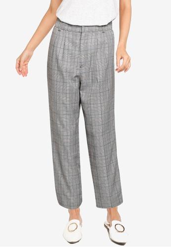LOWRYS FARM grey Check Print Pants E7DA3AA40972FFGS_1