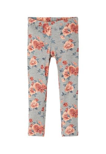 NAME IT grey Vivian Floral Printed Leggings 49CD0KA3328D86GS_1