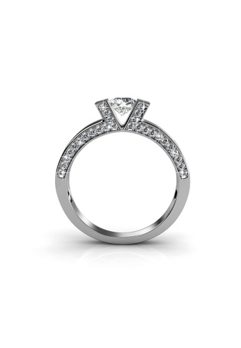 Her Jewellery silver Venus Ring (White Gold) - Made with Premium grade crystals from Austria E7D89ACFF09407GS_1