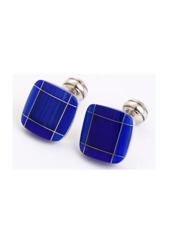 Kings Collection Blue Cats Eye Cufflinks KI358AC0FG59SG_1