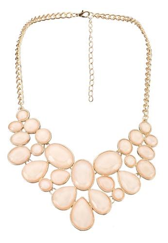 Red's Revenge brown Perfect Peach Gem Stone Bib Necklace 18AE2AC4C1637CGS_1