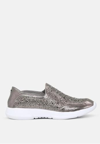 London Rag silver Active Slip-on Studded Sneakers SH1726 3B972SHD49709FGS_1