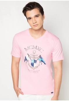 Metallic Print T-shirt