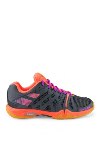 Babolat grey and pink Shadow Team Women's Badminton Shoes BA220SH99NVSPH_1