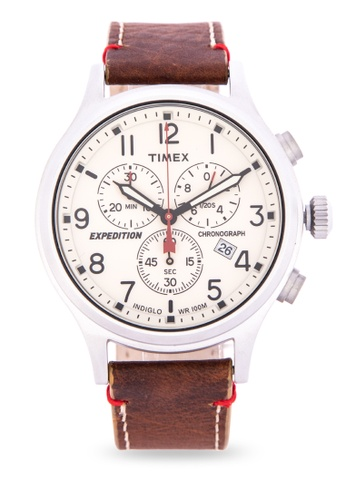 1b48e011d Shop TIMEX Expedition Scout Chronograph Watch for Men TW4B04300 Online on  ZALORA Philippines