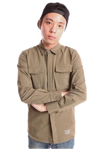 Praise green Long Sleeves Shirt PR067AA04HNRSG_1
