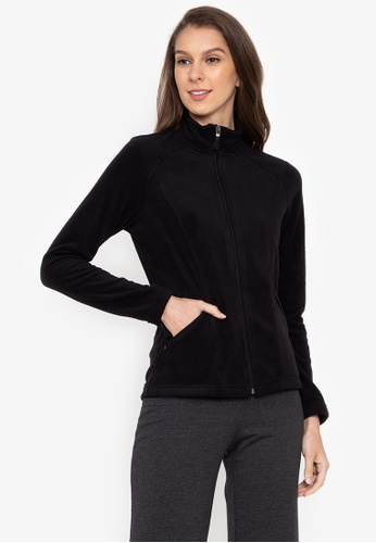 MARKS & SPENCER black Panelled Fleece Jacket DBD2CAA921151CGS_1
