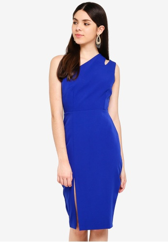 Vesper blue Vesper Aurora One Shoulder Midi Dress 7D40CAA9BBCB96GS_1