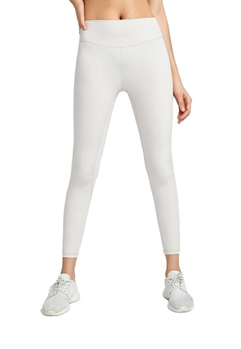 B-Code white ZWG1115a-Lady Quick Drying Running Fitness Yoga Leggings-White 92C2FAA09D71FAGS_1