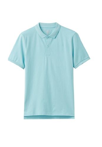Giordano blue Unisex Anti Bacteria Polo Shirt 3E822AAAD733DCGS_1