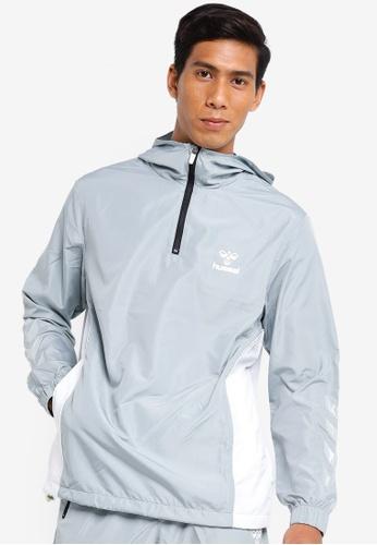 Hummel grey Hummel Magnus Half Zip Jacket 87933AA6F142CEGS_1