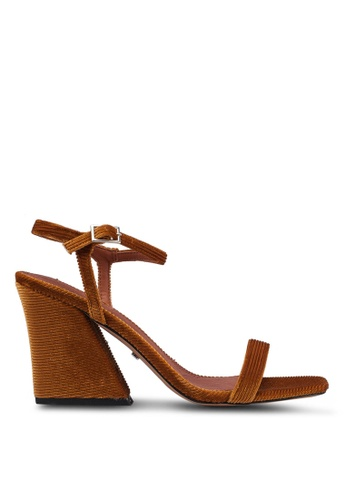 TOPSHOP 褐色 高跟涼鞋 6D5F9SHA3BE86CGS_1
