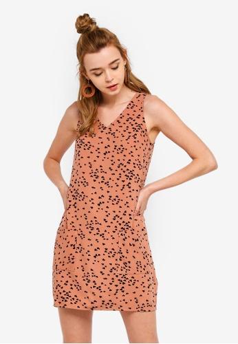 Something Borrowed 粉紅色 Patched Pocket Sleeveless Shift Dress B6470AA27C1566GS_1