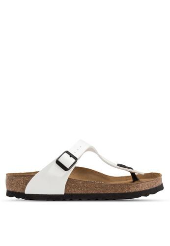 Birkenstock black and white Gizeh Sandals BI090SH49CRQMY_1