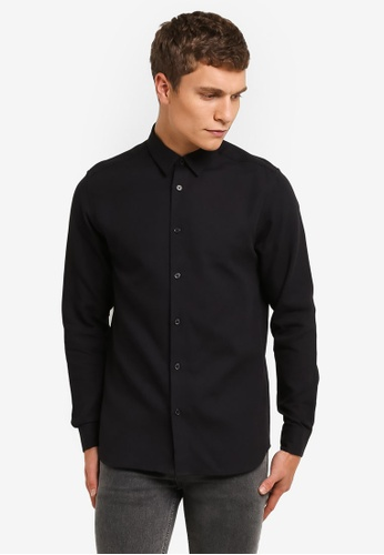 Selected Homme black Long Sleeve Shirt SE364AA0RMCZMY_1