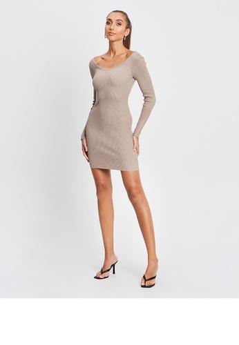 BWLDR grey Kara Knit Dress 436C3AA88436CCGS_1