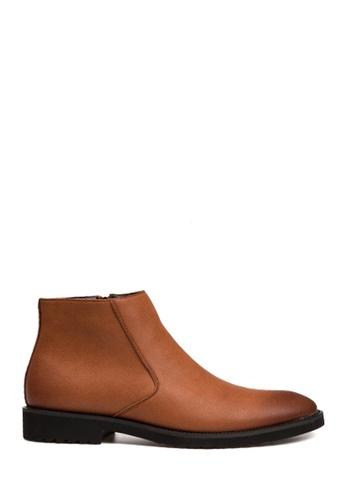 Twenty Eight Shoes 褐色 簡約男裝短靴 VM825 5276ASH20DC417GS_1