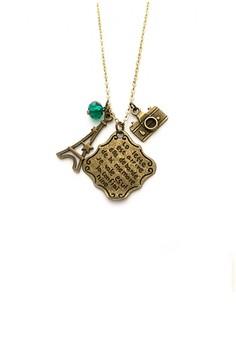 Paris Love Letter Charm Necklace