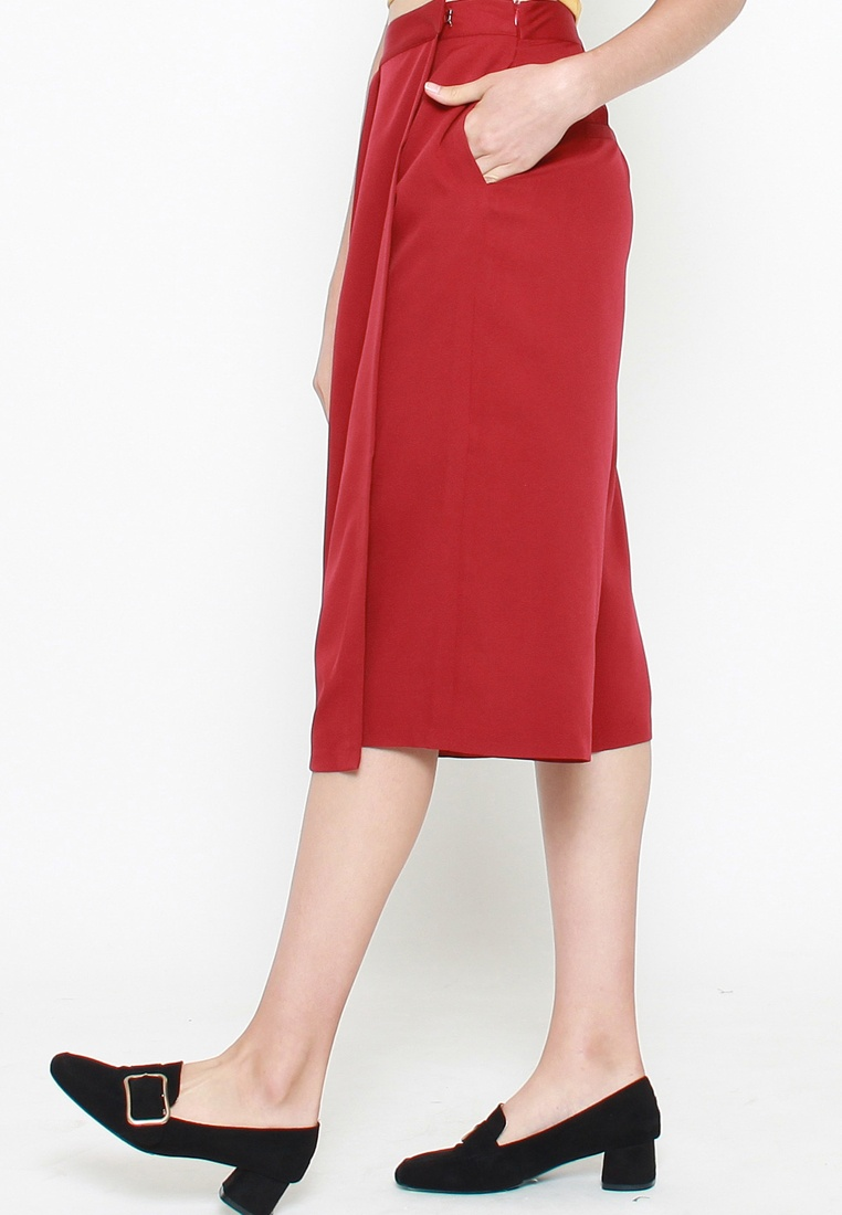 Wrap Red Aurora QLOTHE Juliette Skirt Zwpxq85z