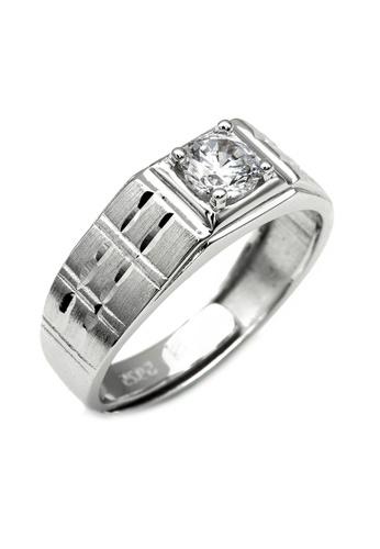 Elfi silver Elfi 925 Genuine Silver Engagement Ring R68 (A) – The Explorer 58199ACD5D3C92GS_1