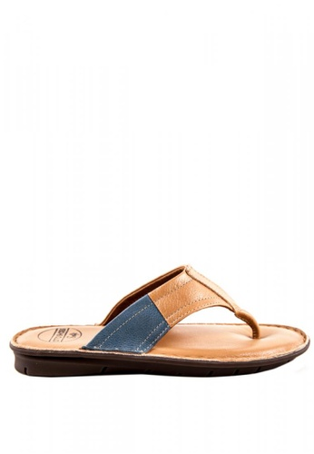 Otto beige Duo Tone Slide Sandals 0BB43SHF9FF2D7GS_1