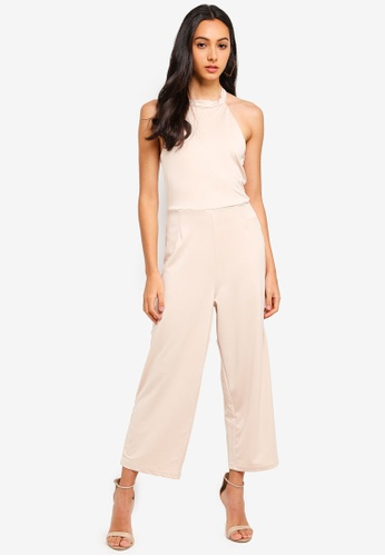 Supre brown Halter Neck Jumpsuit DAF2BAAA7FB680GS_1