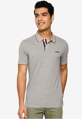 Jack & Jones grey London Polo Shirt 7537DAACD5431AGS_1