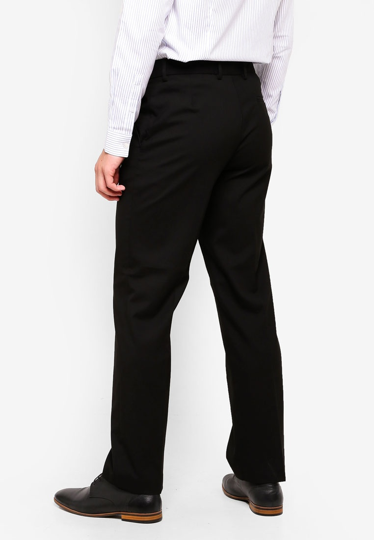Menswear Burton Stretch Fit London Black Regular Trousers Black KwO8XxgCqA