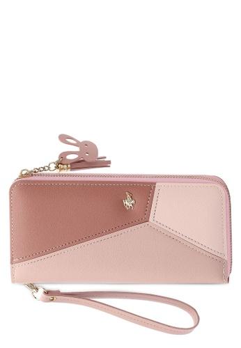 Swiss Polo pink Clutch Purse 00AA6ACEC3896EGS_1