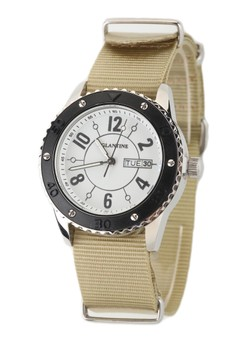 Eglantine Vanessa Steel Watch On Nato Strap,15ws-Vanwb-Nato2