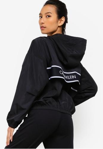 Calvin Klein 黑色 落肩風衣 5231EAA5418E55GS_1