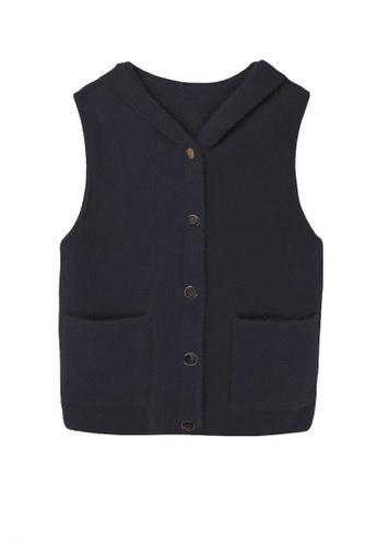 Twenty Eight Shoes black VANSA Imitation Mink Vest Jacket  VCW-V7706 DE367AAD0C0485GS_1