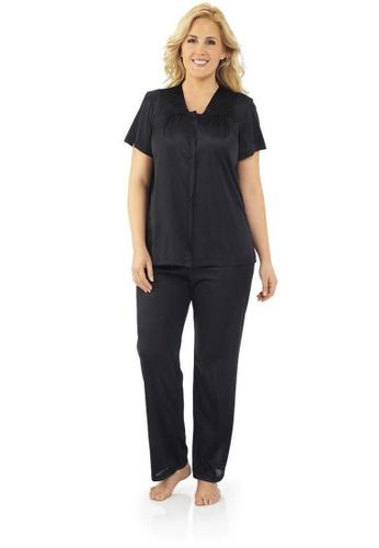 Exquisite Form black Short Sleeve Pyjama Set CA754AAD76F570GS_1