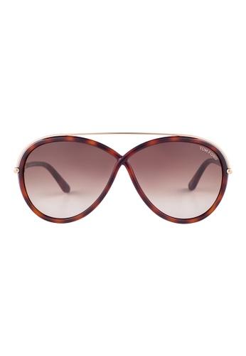 Tom Ford brown TOM FORD Tamara Round Tortoise Sunglasses TF454 TO545AC22JGRMY_1