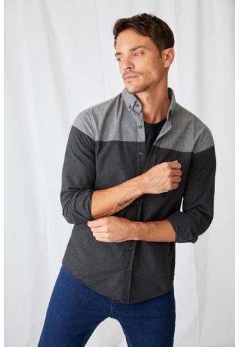DeFacto black Man Woven Top Long Sleeve Shirt 01632AA1DAFD3CGS_1