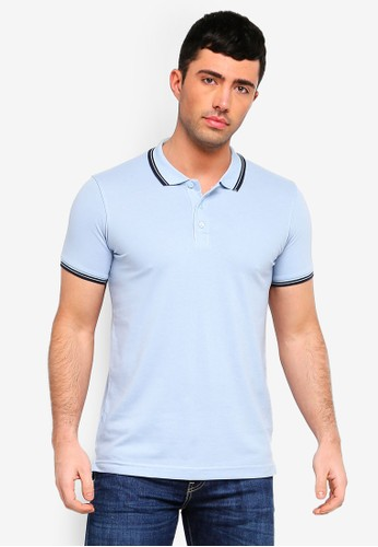 Brave Soul blue Button Down Polo Shirt 2EFC9AA8A79B96GS_1