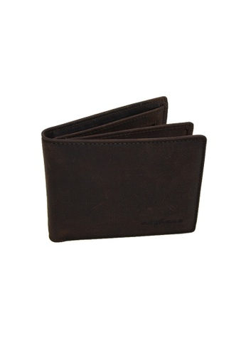 EXTREME brown Extreme Genuine Leather Short Wallet with Mid Flap (12 Slots) B1E2EAC48E5297GS_1