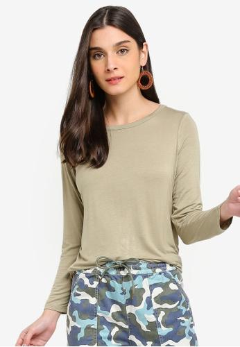 Cotton On green Kathleen Long Sleeve Top 84851AA08B43EAGS_1