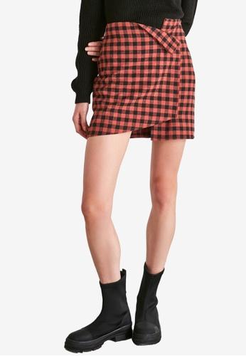 Trendyol orange Printed Asymmetric Mini Skirt 0A021AA957712FGS_1