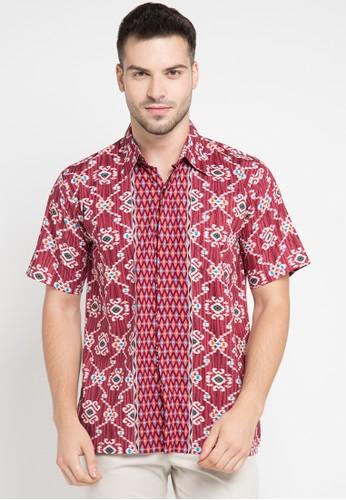 Rianty Batik red and multi Hem Filius RI993AA0VN8SID_1