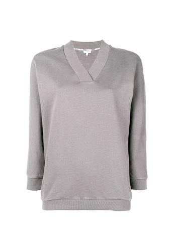 Kenzo grey Kenzo Logo Print Sweatshirt in Pale Grey 4ECCCAACA55335GS_1