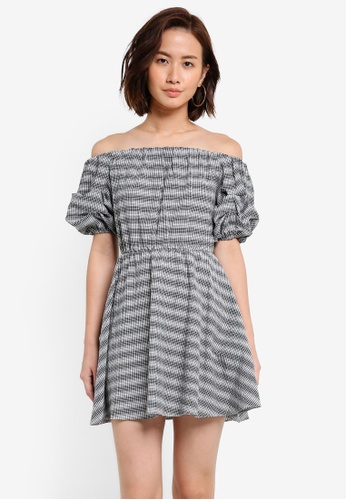 Miss Selfridge black Petite Black Checkered Dress MI665AA0RJF1MY_1